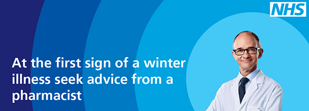 At the first sign of a winter illness seek advice from a pharmacist